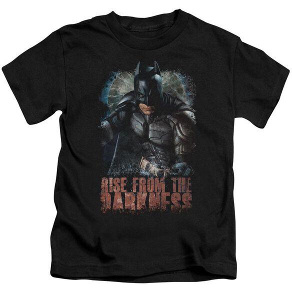 Dark Knight Rises Rise From Darkness Short Sleeve Juvenile Black T-Shirt