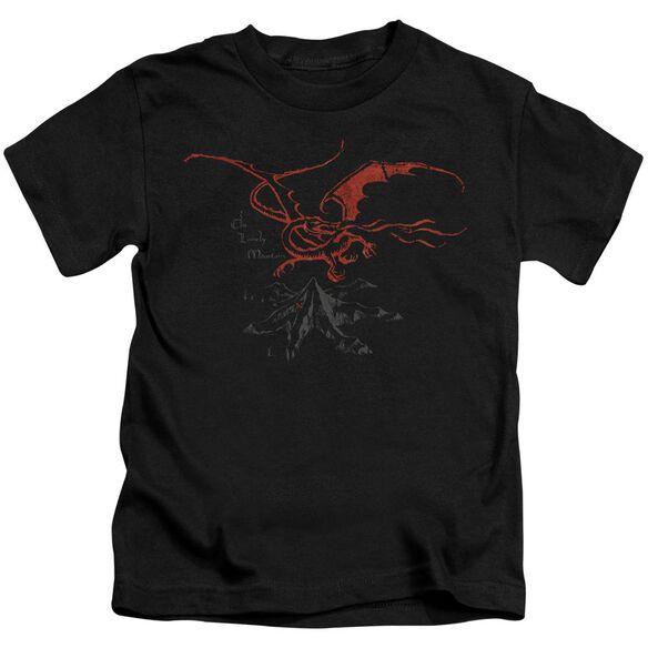 The Hobbit Smaug Short Sleeve Juvenile Black Md T-Shirt