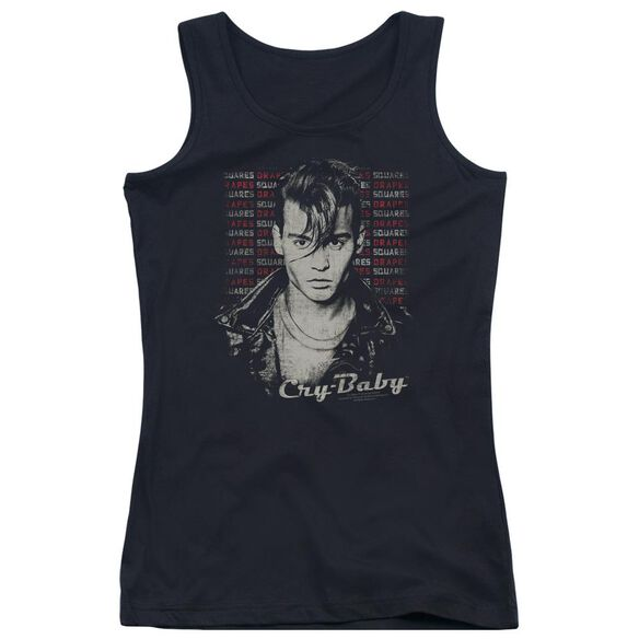 Cry Baby Drapes And Squares Juniors Tank Top