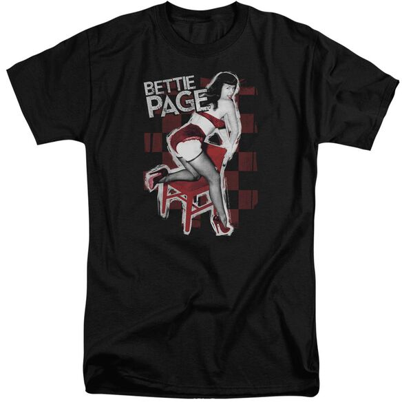 Bettie Page Over A Chair Short Sleeve Adult Tall T-Shirt