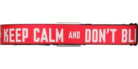Doctor Who Keep Calm and Don't Blink Seatbelt Belt
