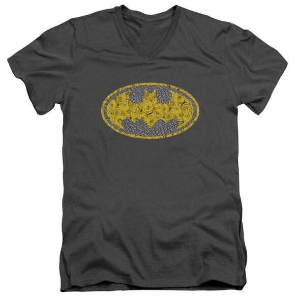 Batman Elephant Rose Signal Short Sleeve Adult V Neck T-Shirt