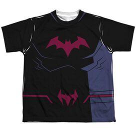 Batman Unlimited Batman Black Uniform Short Sleeve Youth Poly Crew T-Shirt