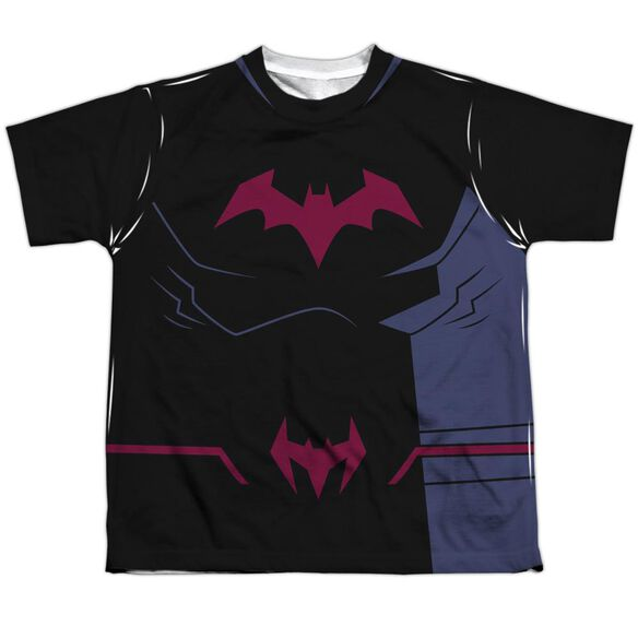 Batman Unlimited Batman Black Uniform Short Sleeve Youth Poly Crew T-Shirt