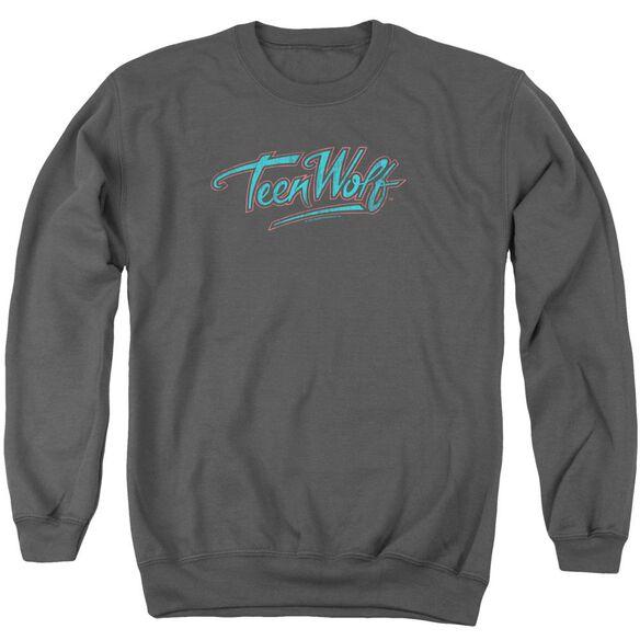 Teen Wolf Neon Logo Adult Crewneck Sweatshirt