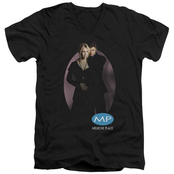 Melrose Place Kiss Short Sleeve Adult V Neck T-Shirt