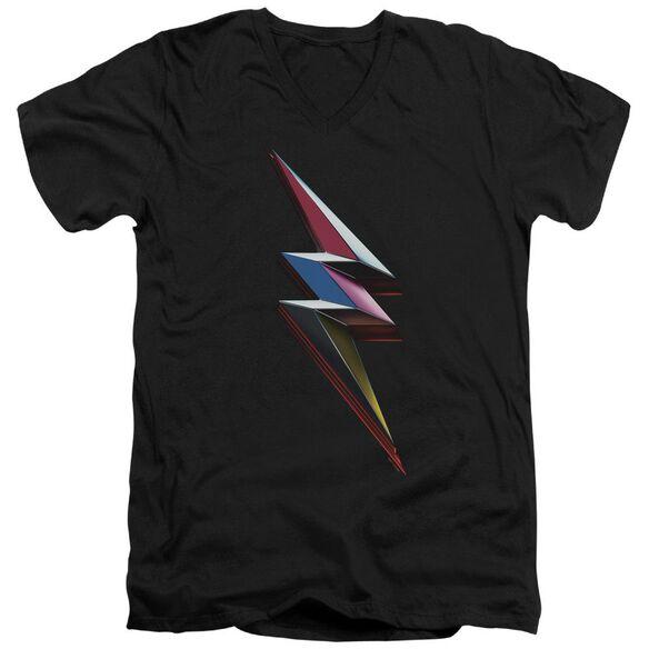 Power Rangers Movie Bolt Short Sleeve Adult V Neck T-Shirt