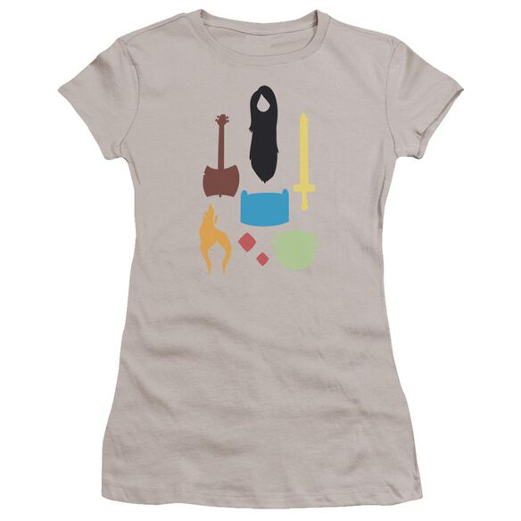 Adventure Time Icons Hbo Short Sleeve Junior Sheer T-Shirt