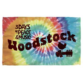 Woodstock Tie Dye Towel White
