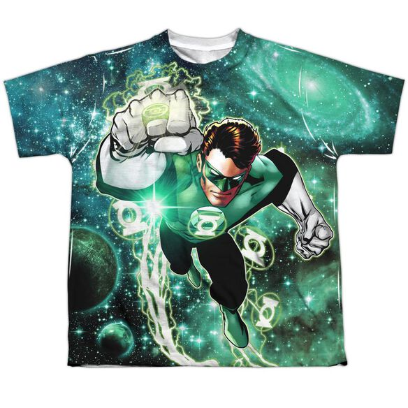 Green Lantern Galactic Hal Short Sleeve Youth Poly Crew T-Shirt