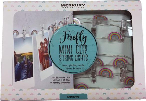 Firefly Mini Clip String Lights - Rainbows