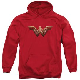 Wonder Woman Movie Wonder Woman Logo Adult Pull Over Hoodie