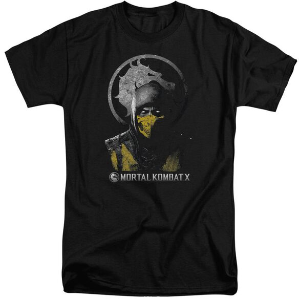 Mortal Kombat Scorpion Bust Short Sleeve Adult Tall T-Shirt