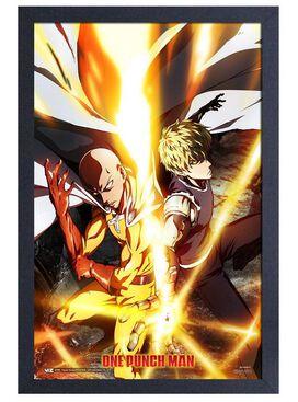 One Punch Man Fire Wall Art 11x17