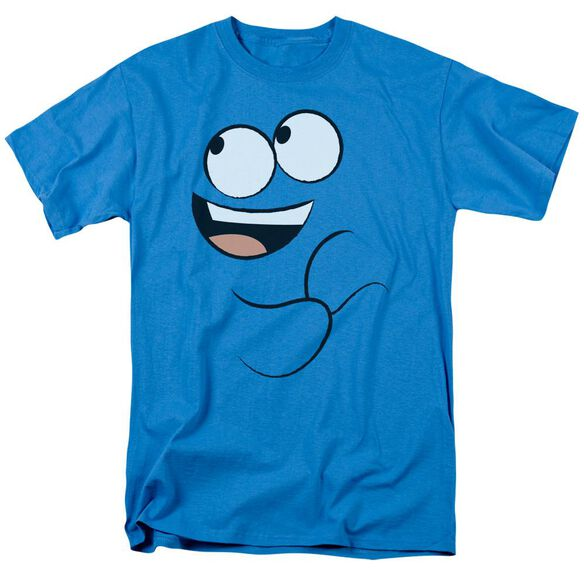 Foster's Home Of Imaginary Friends Blue Smile Short Sleeve Adult Turquoise T-Shirt