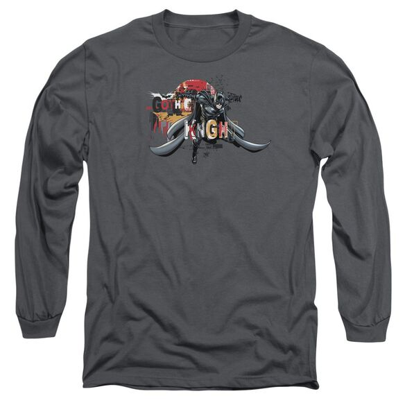Dark Knight Rises Gothic Knight Long Sleeve Adult T-Shirt