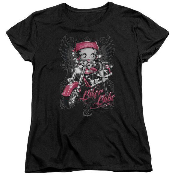 Betty Boop Biker Babe Short Sleeve Womens Tee T-Shirt
