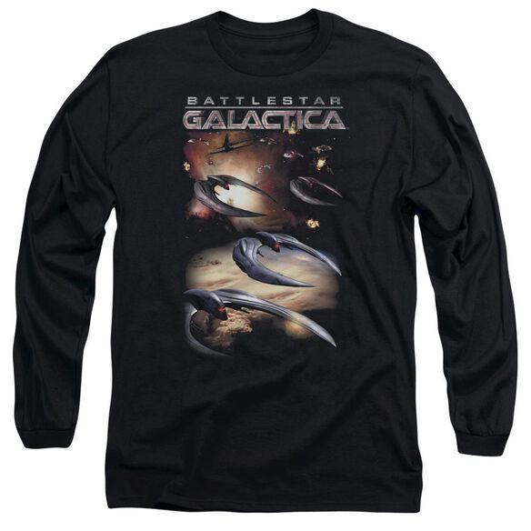 Battlestar Galactica (New) When Cylons Attack Long Sleeve Adult T-Shirt