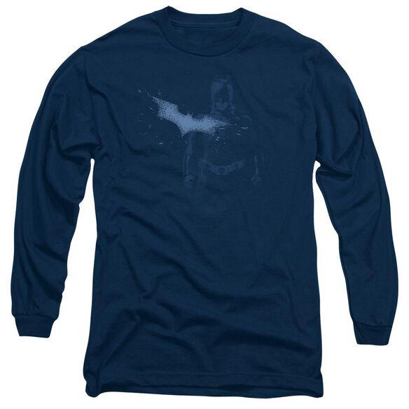 Dark Knight Static Long Sleeve Adult T-Shirt