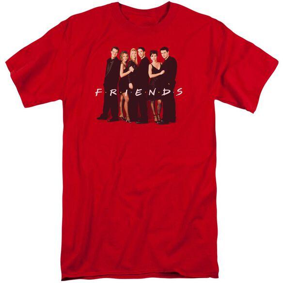 Friends Cast In Black Short Sleeve Adult Tall T-Shirt