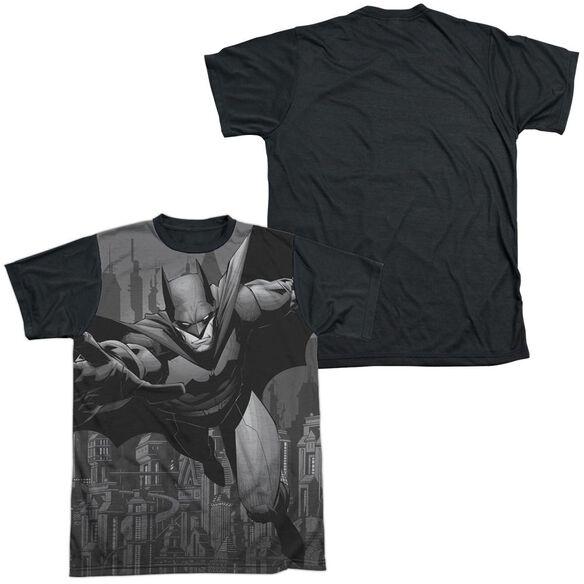 Batman Grey Race Short Sleeve Adult Front Black Back T-Shirt