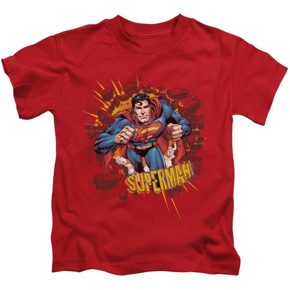 SUPERMAN SORRY ABOUT THE WALL - S/S JUVENILE 18/1 - RED - T-Shirt
