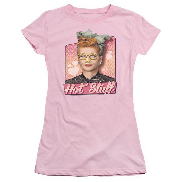 I Love Lucy Hot Stuff Short Sleeve Junior Sheer T-Shirt