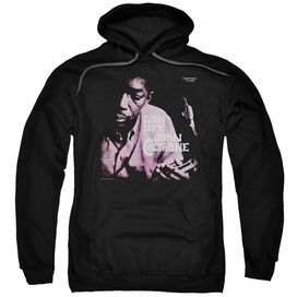 John Coltrane Lush Life Adult Pull Over Hoodie Black