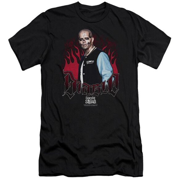 Suicide Squad Diablo Flames Premuim Canvas Adult Slim Fit
