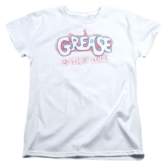 Grease Grease Is The Word Short Sleeve Womens Tee T-Shirt