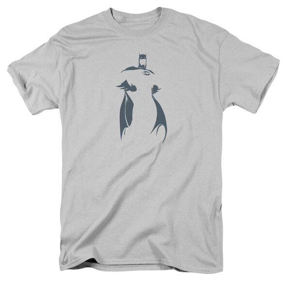 Dc Bat Min Short Sleeve Adult Silver T-Shirt
