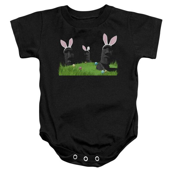 Easter Island Infant Snapsuit Black