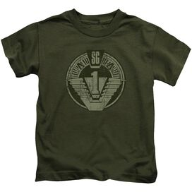Stargate Sg1 Distressed Short Sleeve Juvenile Military T-Shirt
