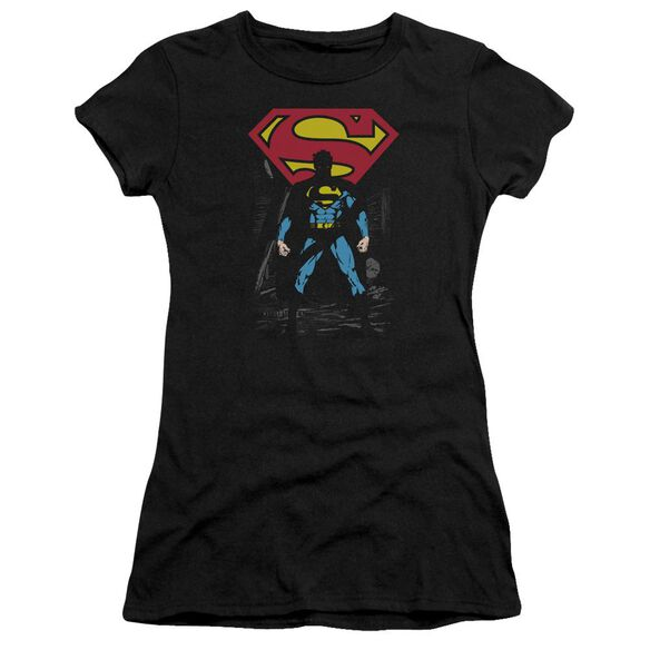 Superman Dark Alley Premium Bella Junior Sheer Jersey