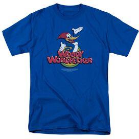 Woody Woodpecker Woody Short Sleeve Adult Royal Blue T-Shirt