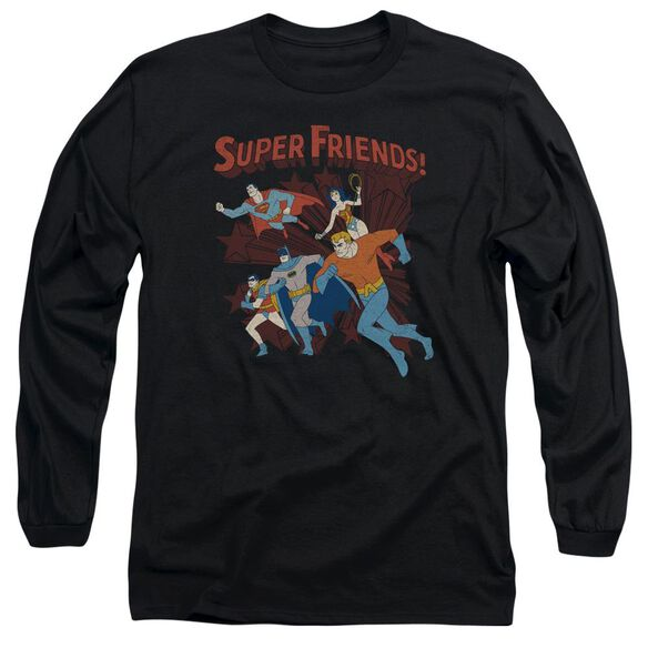 Dc Super Running Long Sleeve Adult T-Shirt