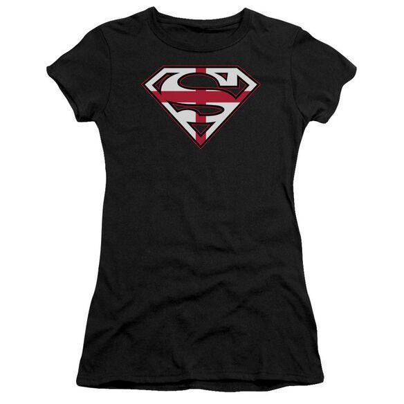 Superman English Shield Premium Bella Junior Sheer Jersey