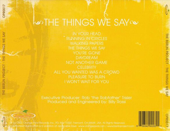 Things We Say/The