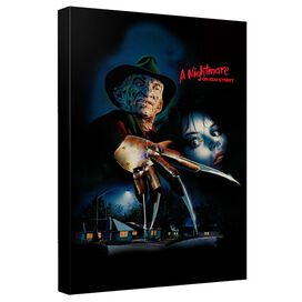 Nightmare On Elm Street Freddy Poster Canvas Wall Art With Back Board