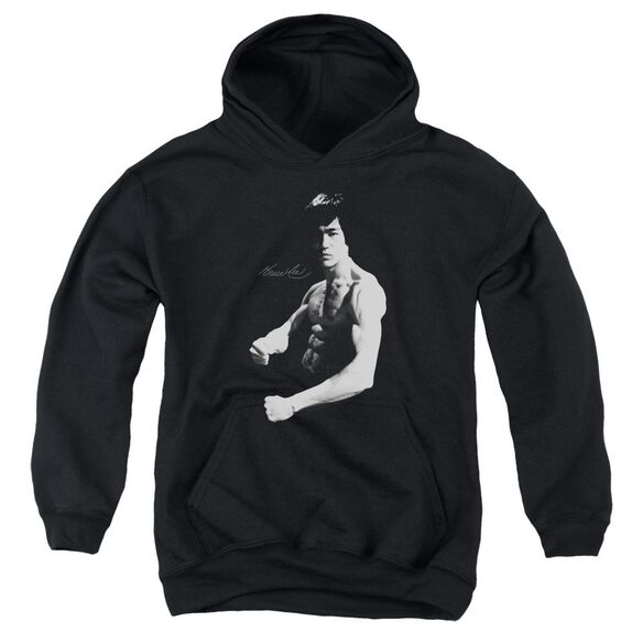 Bruce Lee Stance Youth Pull Over Hoodie