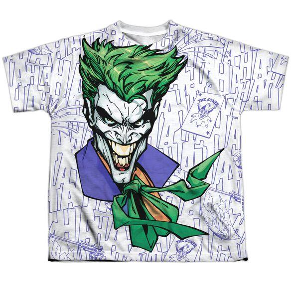 Batman Laugh Clown Laugh Short Sleeve Youth Poly Crew T-Shirt