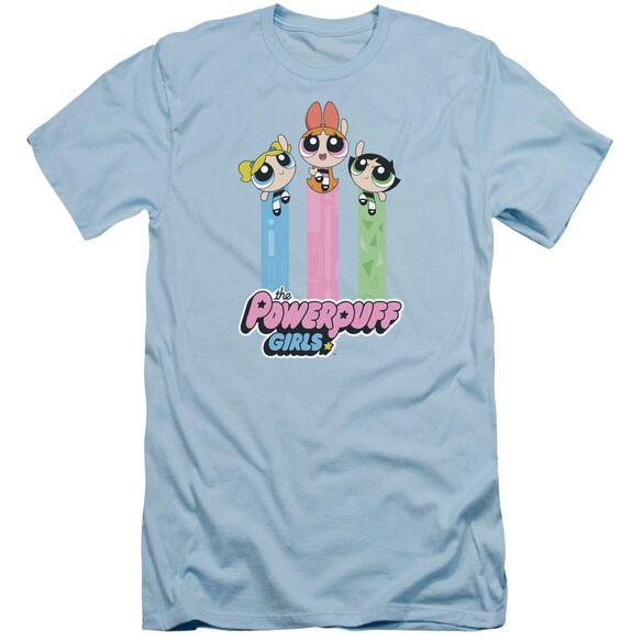 Powerpuff Girls The Girls Fly Short Sleeve Adult Light T-Shirt