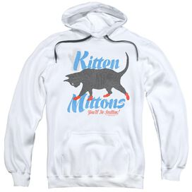 Its Always Sunny In Philadelphia Kitten Mittons Adult Pull Over Hoodie