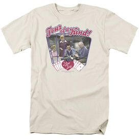 I Love Lucy Four Of A Kind Short Sleeve Adult Cream T-Shirt