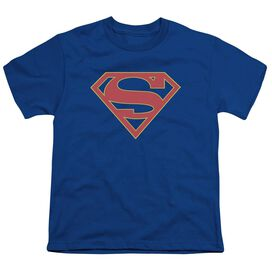 Supergirl Logo Short Sleeve Youth Royal T-Shirt