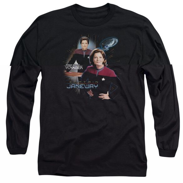 Star Trek Captain Janeway Long Sleeve Adult T-Shirt