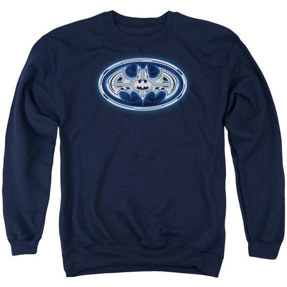 Batman Cyber Bat Shield Adult Crewneck Sweatshirt