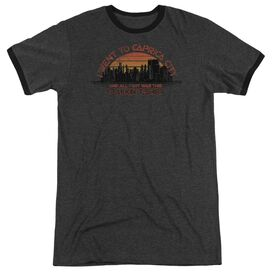 BSG CAPRICA CITY - ADULT HEATHER RINGER - CHARCOAL