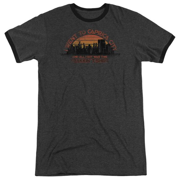 Bsg Caprica City Adult Heather Ringer Charcoal