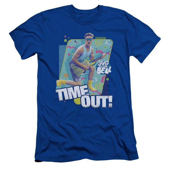 Saved By The Bell Time Out Short Sleeve Adult Royal T-Shirt